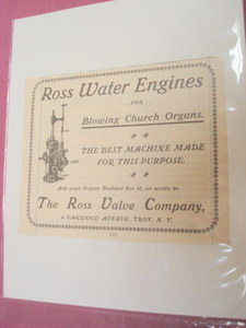 1901 Water Engines Ad Ross Valve Company, Troy, N. Y.