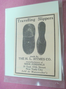 1923 Ad Travelling Slippers The H. L. Hymes Co. NYC