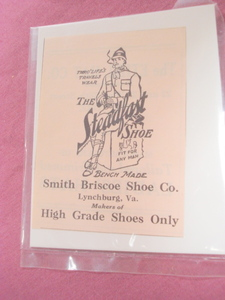 1923 Ad Smith Briscoe Shoe Co. Lynchburg, Va. Steadfast