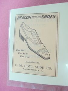 1923 Ad Beacon Shoes F. M. Hoyt Shoe Manchester, N. H.