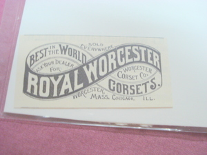 1889 Ad Royal Worcester Corsets, Worcester, Mass