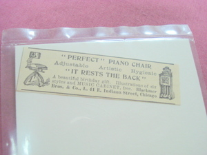 1893 Ad Perfect Piano Chair Blackmer Bros. & Co Chicago