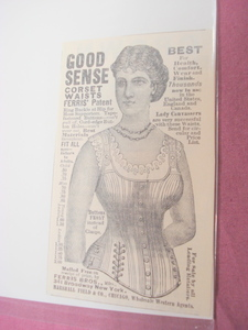 1889 Good Sense Corsets Ad Ferris Bros., New York