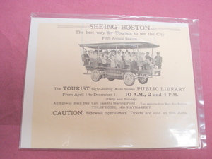 1908 Boston Sight-Seeing Tourist Auto Ad