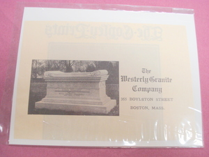 1908 The Westerly Granite Co., Boston Cemetary Ad