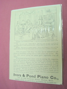 1889 Ad Ivers & Pond Piano Co., Boston, Mass.