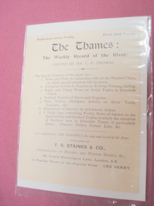 1899 Ad The Thames Newspaper, London, England U.K.
