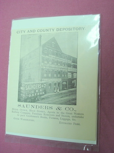 1899 Ad Saunders & Co. Movers, Oxford, England U.K.