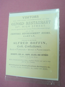 1899 Ad Oxford Restaurant, Oxford, England U.K.