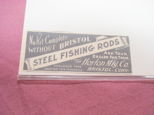 1894 Ad-Bristol Steel Fishing Rods-Horton Mftg. Co.-Ct.