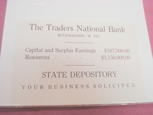 1921 Ad The Traders National Bank, Buckhannon, W. Va.