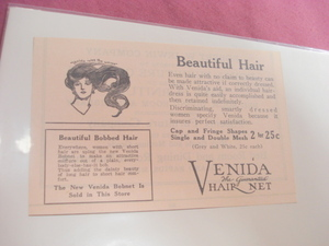 1924 Ad Venida The Guaranteed Hair Net
