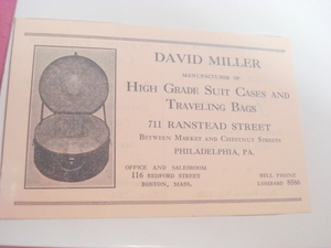 1924 Ad David Miller Suit Cases Mftr., Philadelphia, Pa.