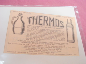 1923 American Thermos Bottle Company Ad Norwich, Ct.