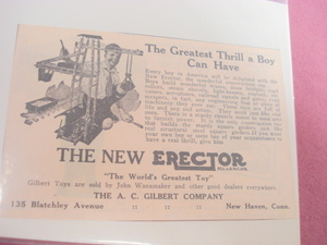 1924 Ad The New Erector A. C. Gilbert Company