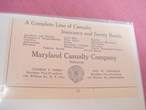 1924 Ad Maryland Casualty Company, Baltimore, Md.