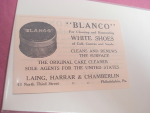 1924 Ad Blanco White Shoes Cleaner