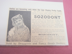 1894 Sozodont Illustrated Ad-Dental Tooth Powder