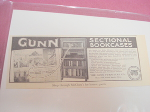 1914 Gunn Sectional Bookcases Ad, Grand Rapids, Mich.