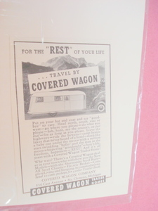 1937 Covered Wagon Trailer Homes Ad