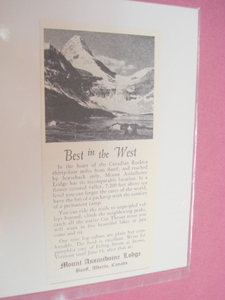 1951 Ad Mount Assiniboine Lodge Banff, Alberta, Canada