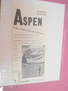 1951 Illustrated Ad Hotel Jerome, Aspen, Colorado