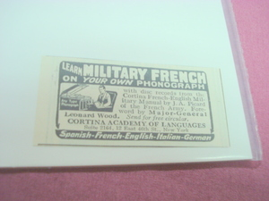 1917 Ad Cortina Academy of Languages New York