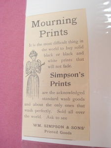 1893 Simpsons Prints Ad Women's Wash Goods