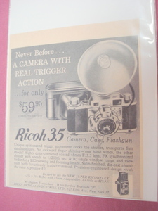1956 Ad-Ricoh 35-Camera, Case, Flashgun