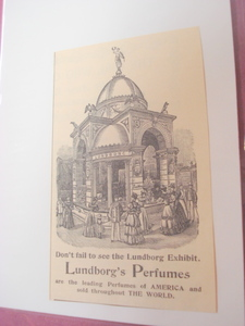 1893 Lundborg's Perfumes Illustrated Ad