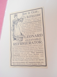 1894 Ad Grand Rapids Refrigerator Co., Michigan