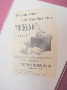 1894 Ad-Trokonet Box Camera, Photo Materials Co.