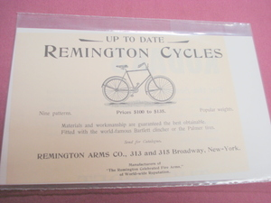 1894 Ad Remington Cycles Remington Arms Co. NYC