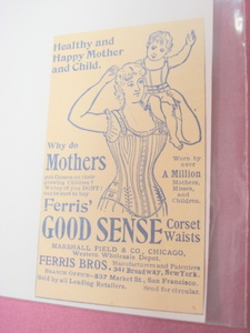 1894 Ad Ferris Bros. Good Sense Corsets NYC