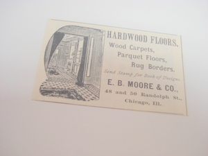 1894 Ad-Hardwood Floors, E. B. Moore & Co., Chicago