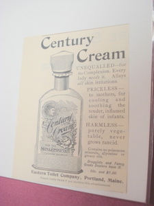 1894 Ad Century Cream Eastern Toilet Co., Portland, Me.