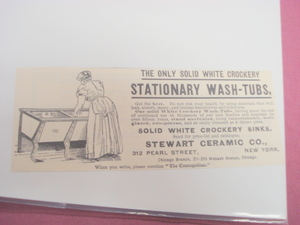 1894 Ad White Crockery Wash-Tubs Stewart Ceramic Co.