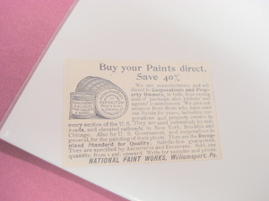 1894 Ad National Paint Works, Williamsport, Pa.