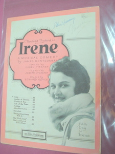 Irene Sheet Music From the Musical Comedy