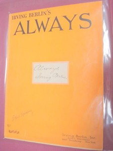 Always Sheet Music Irving Berlin 1925