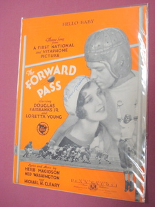 Hello Baby Sheet Music from Movie Forward Pass 1929