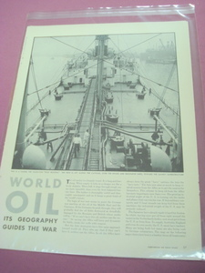 1942 Life Magazine World War II Oil Magazine Article