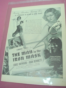 1939 Movie Ad The Man In The Iron Mask