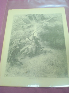 1880 Illustrated Bible Page Death of Absalom