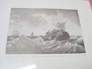 1925 Illustrated Page Cachalot Fishery Whale Hunting
