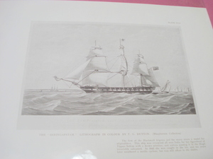 1925 Illustrated Page The British Frigate Seringapatam