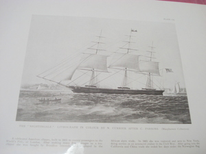 1925 Illustrated Page The Nightingale Clipper Ship
