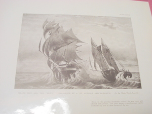 1925 Illustrated Page Pirate Ship and the Hope