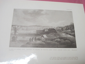 1925 Illustrated Page A View of Sydney Cove