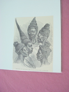 1889 Africa Illustrated Page African Hair Styles